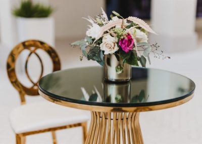 Flower centerpiece on a table